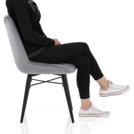 Roxy Dining Chair Grey Velvet Frame Image