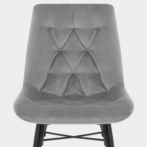 Roxy Dining Chair Grey Velvet Seat Image