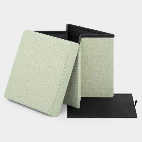 Rubic Foldaway Ottoman Green Fabric Features Image