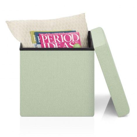 Rubic Foldaway Ottoman Green Fabric Seat Image