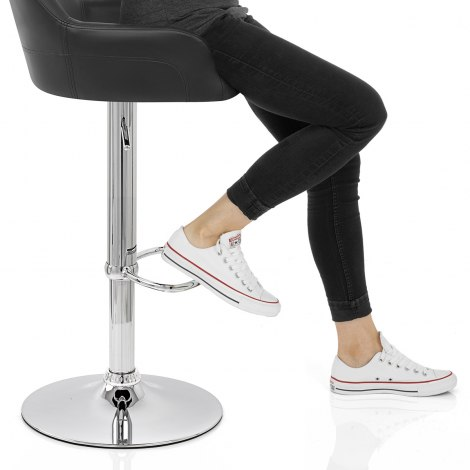 Sassi Bar Stool Black Seat Image