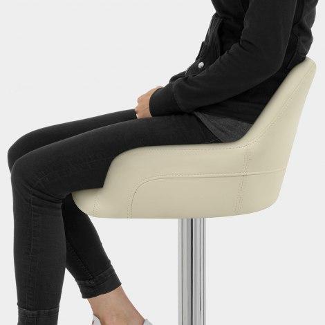 Sassi Bar Stool Cream Seat Image