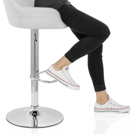 Sassi Bar Stool White Seat Image