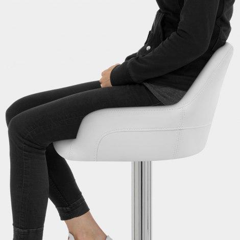 Sassi Bar Stool White Seat Image