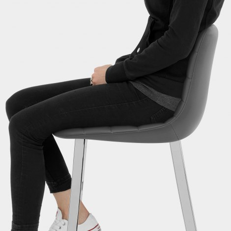 Scala Bar Stool Grey Seat Image