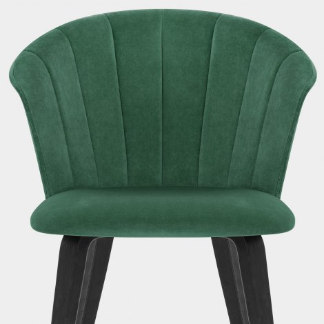 Scroll Dining Chair Green Velvet Seat Image