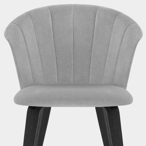 Scroll Dining Chair Grey Velvet Seat Image