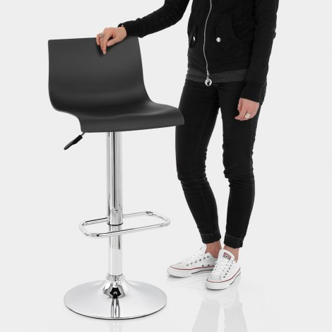 Serena Bar Stool Black Features Image