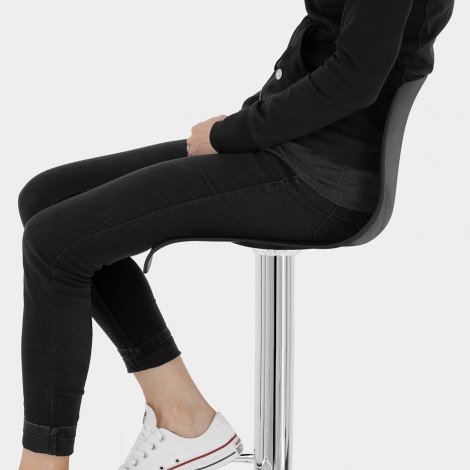 Serena Bar Stool Black Seat Image