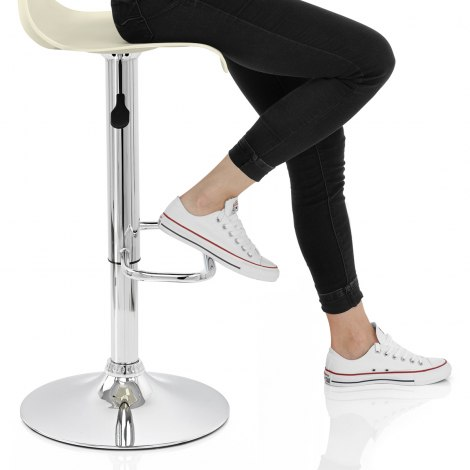Serena Bar Stool Cream Seat Image