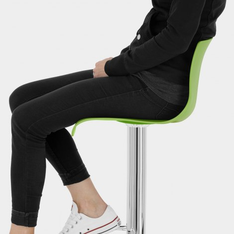 Serena Bar Stool Green Seat Image