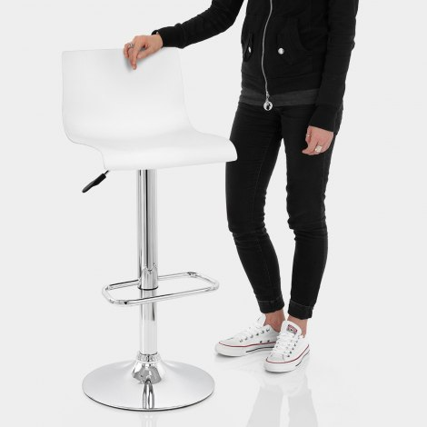 Serena Bar Stool White Features Image