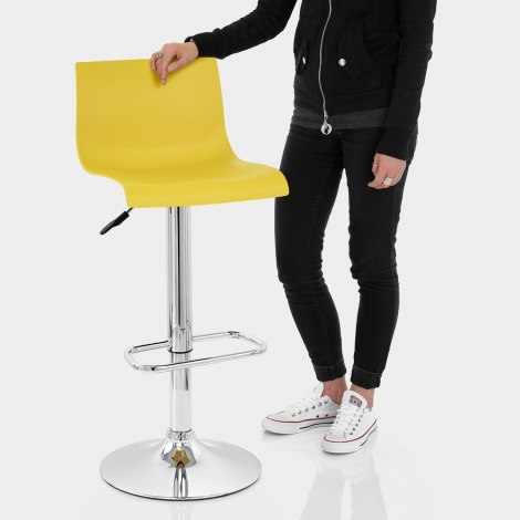 Serena Bar Stool Yellow Features Image