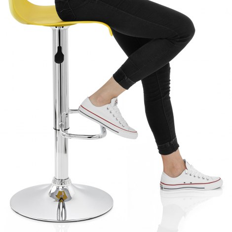 Serena Bar Stool Yellow Seat Image
