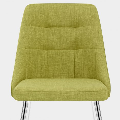 Shanghai Dining Chair Green Fabric Seat Image