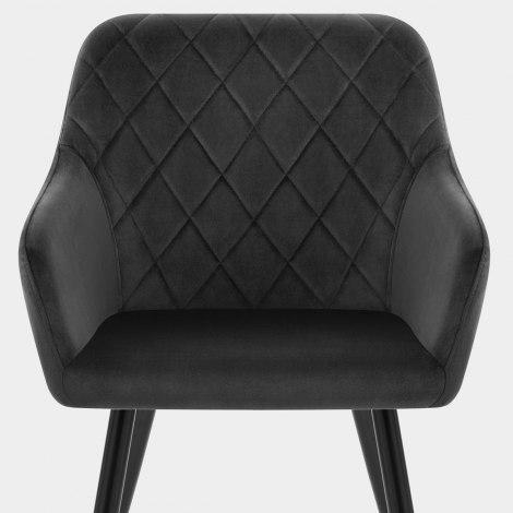 Shelby Armchair Black Velvet Seat Image