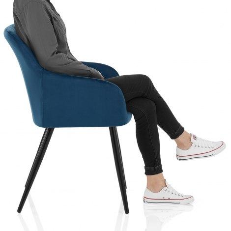 Shelby Armchair Blue Velvet Frame Image