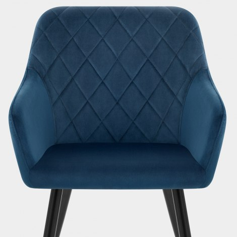 Shelby Armchair Blue Velvet Seat Image