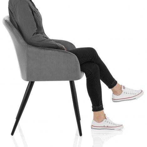 Shelby Armchair Grey Velvet Frame Image