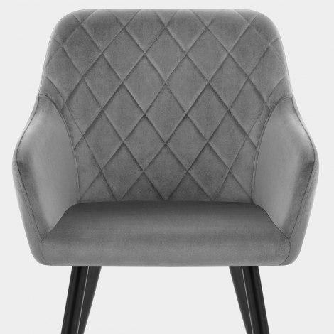 Shelby Armchair Grey Velvet Seat Image