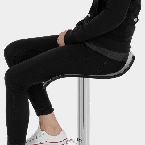 Shimmer Bar Stool Black Seat Image
