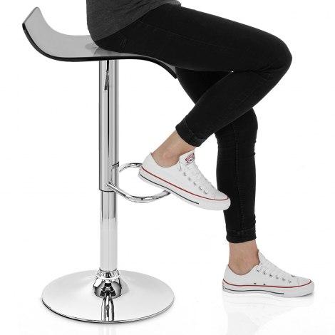 Shimmer Translucent Stool Smoked Seat Image