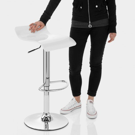 Shimmer Bar Stool White Features Image