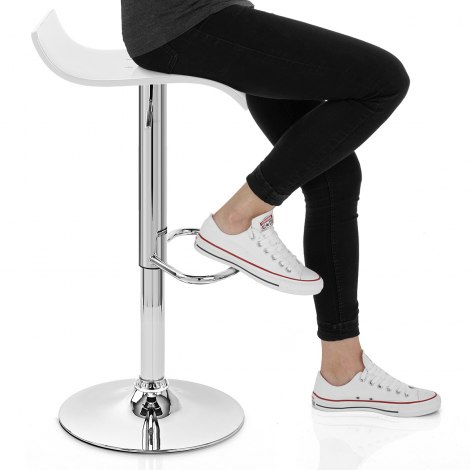 Shimmer Bar Stool White Seat Image