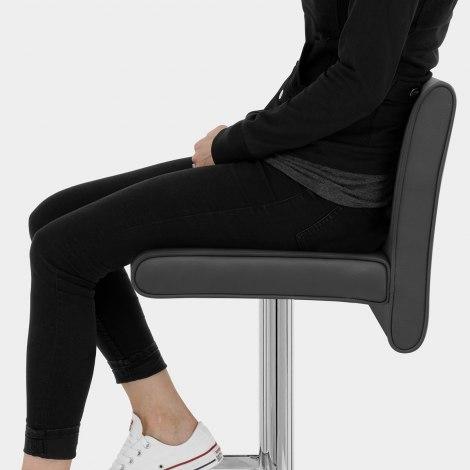 Siena Bar Stool Black Seat Image