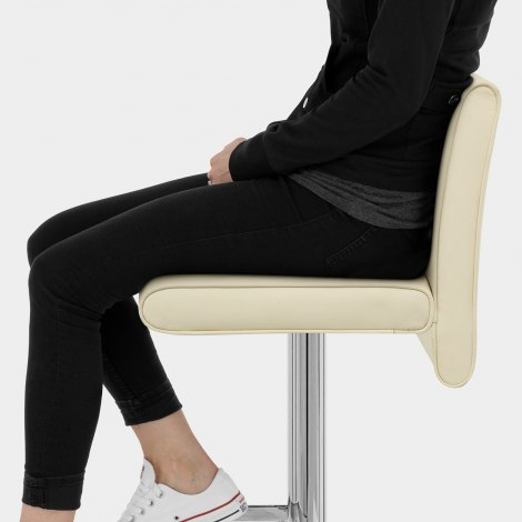 Siena Bar Stool Cream Seat Image