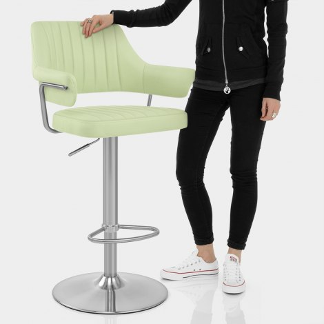 Skyline Brushed Bar Stool Green Features Image