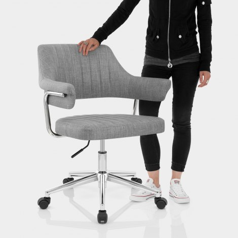 Skyline Office Chair Grey Fabric Features Image