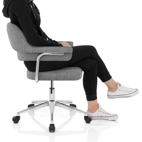 Skyline Office Chair Grey Fabric Seat Image