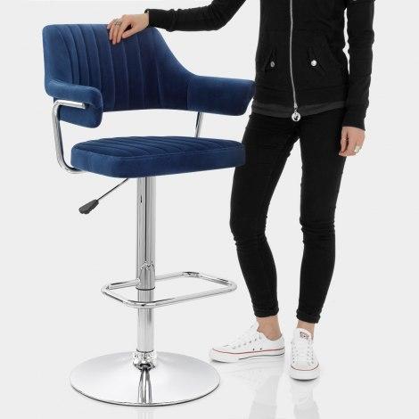 Skyline Bar Chair Blue Velvet Features Image