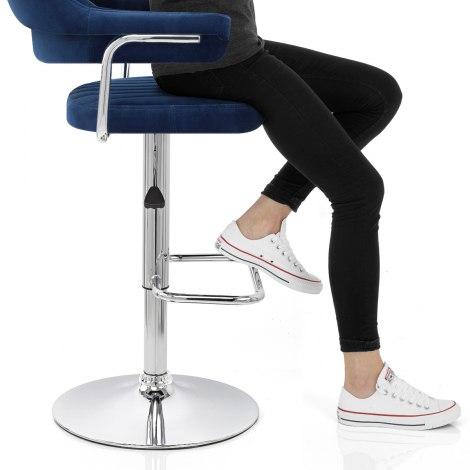 Skyline Bar Chair Blue Velvet Frame Image