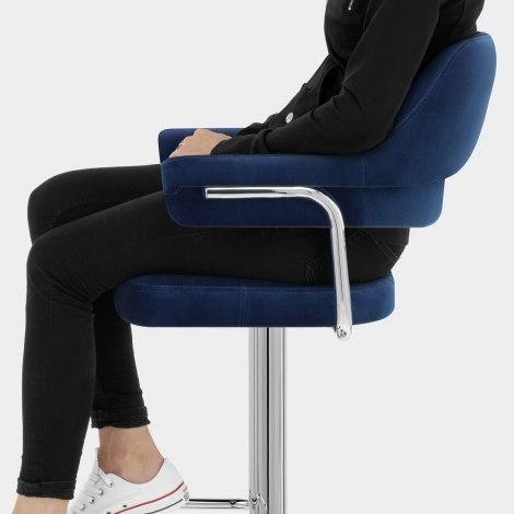 Skyline Bar Chair Blue Velvet Seat Image