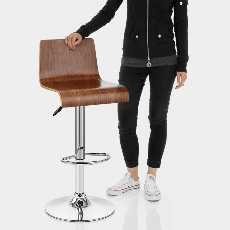 Slink Bar Stool Walnut Features Image