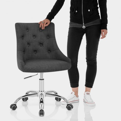 Sofia Office Chair Charcoal Fabric Features Image