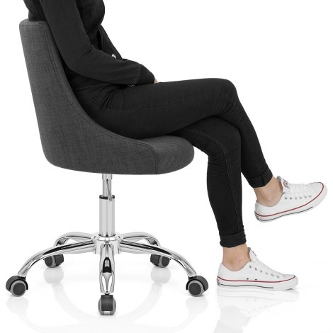 Sofia Office Chair Charcoal Fabric Seat Image