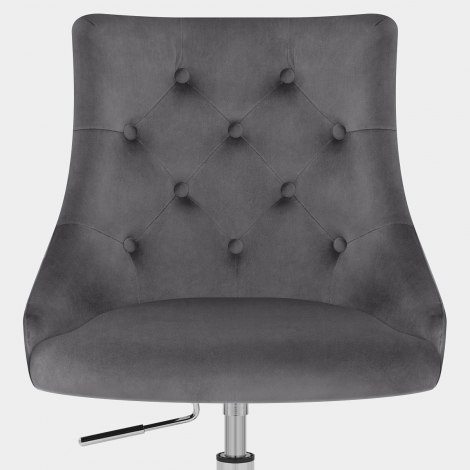Sofia Office Chair Charcoal Velvet Seat Image