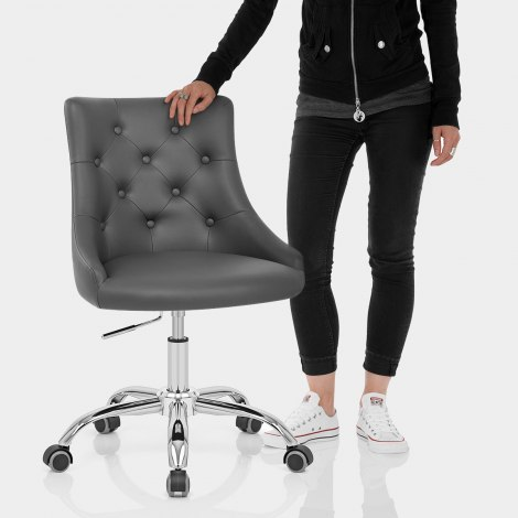 Sofia Office Chair Grey Leather Features Image