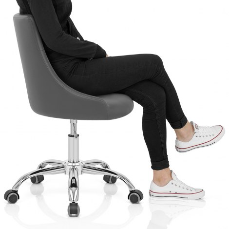Sofia Office Chair Grey Leather Frame Image