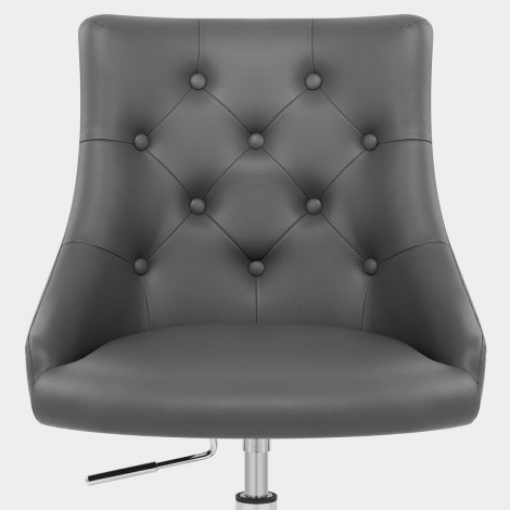 Sofia Office Chair Grey Leather Seat Image
