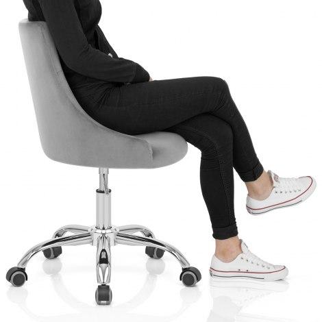 Sofia Office Chair Grey Velvet Frame Image