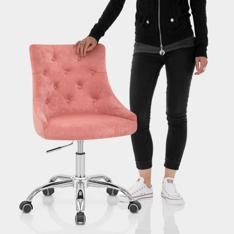 Sofia Office Chair Pink Velvet Features Image
