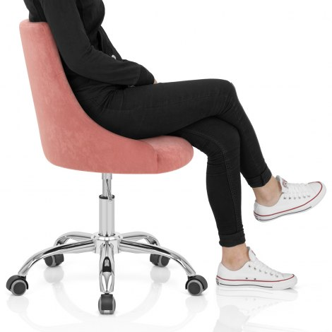 Sofia Office Chair Pink Velvet Frame Image