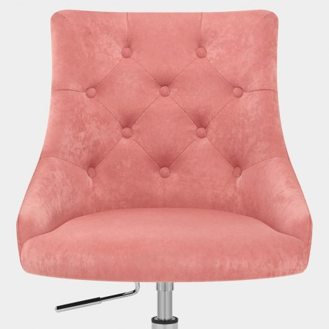 Sofia Office Chair Pink Velvet Seat Image