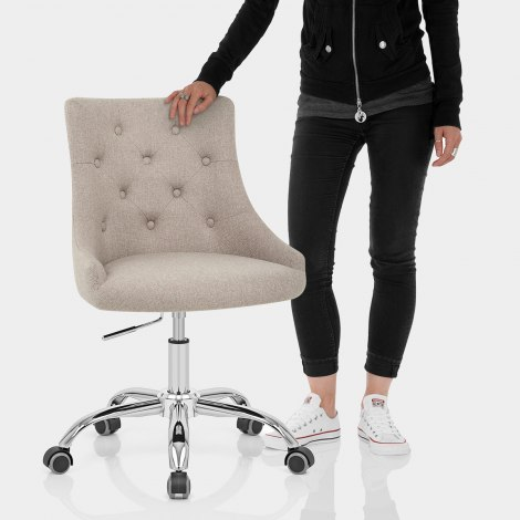 Sofia Office Chair Tweed Fabric Features Image