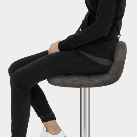 Spark Bar Stool Charcoal Seat Image