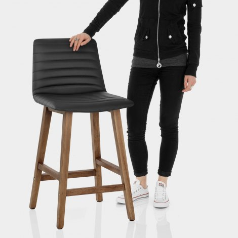 Spritz Wooden Stool Black Features Image